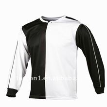 white and black ,sublimated long sleeve soccer shirt 2012