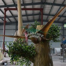 Decorative Dinosaur with Decoration Plant for Hallowen