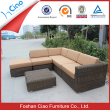 Fashionable wicker rattan garden furniture sofa