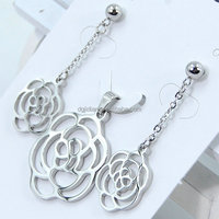 2015 Latest Design Necklace Fashion Jewellery, Silver Costume Jewelry, Stainless Steel Jewelry Sets