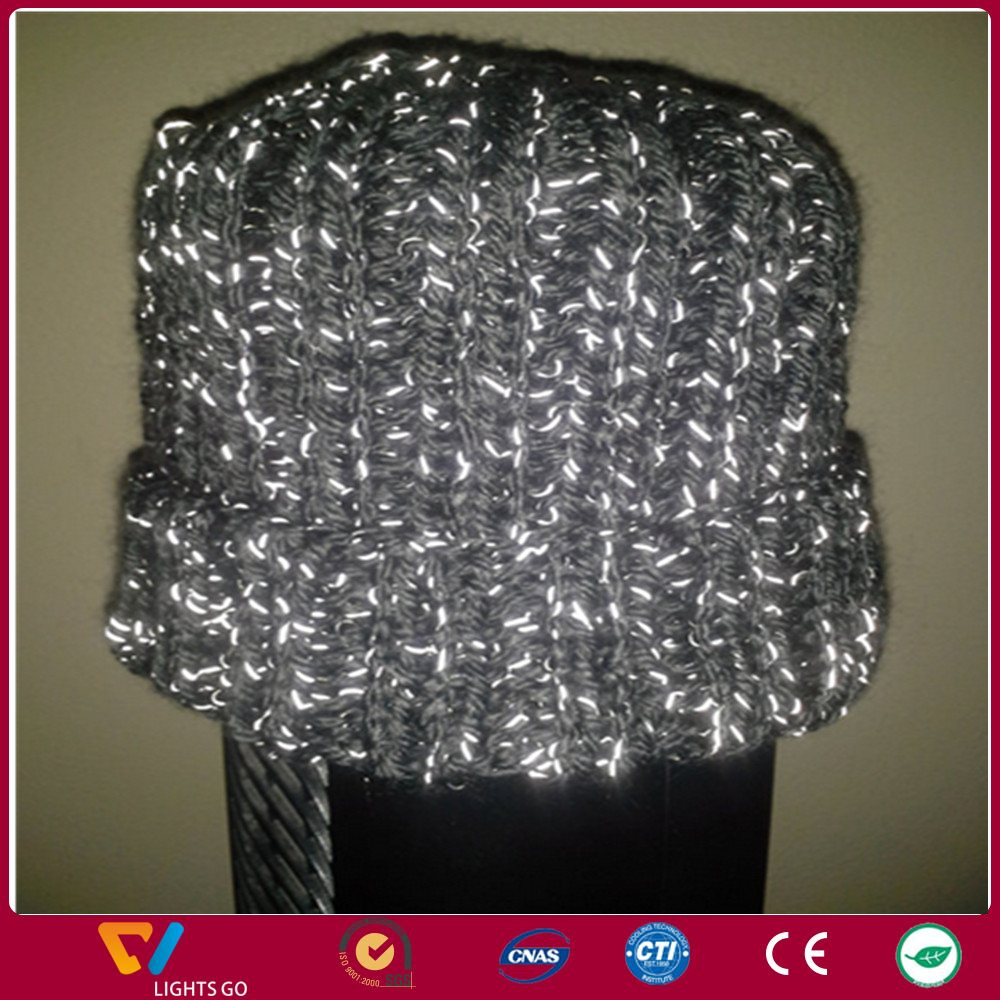 popular double side highly reflective knitting yarn