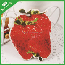 die cut strawberry shaped paper car air freshener for car