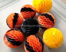 mix color paper flower honeycomb lantern