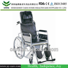CARE-- FDA approve folding steel commode wheelchair