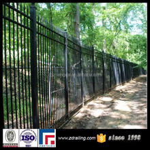 outdoor galvanized steel fence, wrought iron garden wall fence, galvanized fence panels