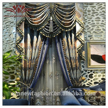 Patrón impreso y ventana de cortinas ubicación, diseño de la cortina para sala de estar, cortinas y cenefas
