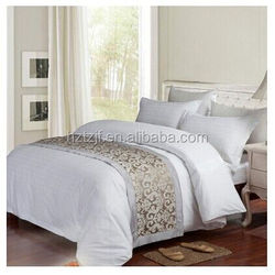100% Cotton or Bamboo Fiber Jacquard bedding sets for hotel and family