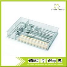 Silver Mesh Cutlery Holder In-drawer Utensil Flatware Organizer