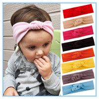 Baby boho Turban Headband Infant Toddlers Top Knotted Headband