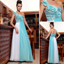 DORISQUEEN Dropshipping wholesale one shoulder prom/cocktail beaded long indian fashion style graduation dress