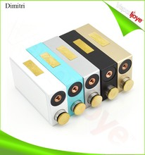 Gold color Mechanical Box Mod Dimitri with 5 color options In Stock