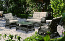 Factory price modem patio bamboo furniture, rattan furniture, wicker furniture sets