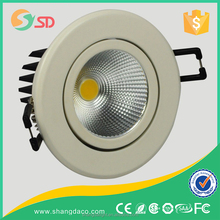 30W COB LED downlights with white color and milky cover and ceiling light 5w surface mounted gimbal led down lights
