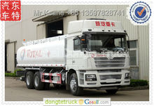 TOTAL OIL COMPANY use 4 compartments Shacman F3000 6*4 fuel/oil tanker truck 380HP +86 13597828741