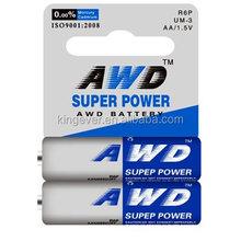 2014 Super Heavy Duty Battery AA size , Zinc Mangaese Dry Battery R6P