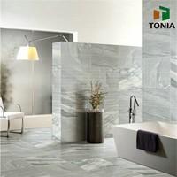 Grey Porcelain Tiles Inkjet Rustic Wall Tiles Low Water Absorbation Bathroom Tiles