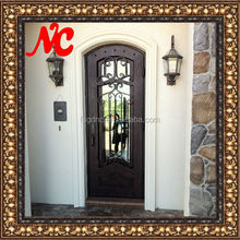 New product wrought iron single entry doors