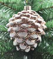 Artificial pine cone wedding decorations glass