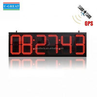Large hands outdoor projection clock countdown