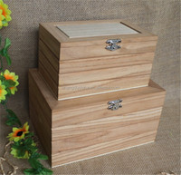 High quality natural unfinished luxury wooden gift craft box wholesale