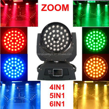 rgbwauv 6in1 led moving 36 12w zoom stage light