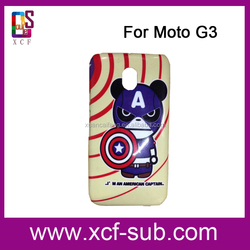 Mobile Phone Cover for Moto G3, Blank Cover for Moto G3, for Moto G3 Cell Phone Case
