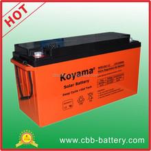 KOYAMA 20KW Solar panel battery 150ah 12V