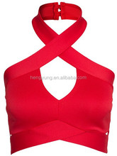 Cross Backless Sexy Woven Crop Top sexy fashion hot push up bra