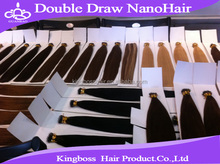 2015 best selling 100% brazilian human hair extension double drawn 26 inch hair extensions