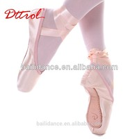 Dttrol Deluxe Satin Basic Professional Ballet Pointe Dance Shoes for sale (D004763)