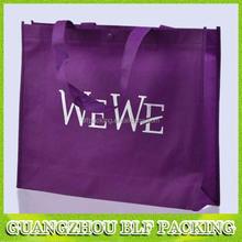 (BLF-NW096)purple non woven shopping bag manufacturer