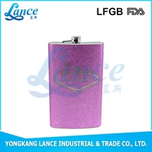 Professional Factory producing Hot sale new SS304 pink hip flask
