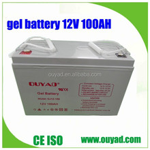 High quality 12v 100ah solar battery, gel bttery ,solar energy battery