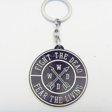 THE WALKING DEAD KEYCHAIN NEW FEAR THE DEAD FIGHT THE LIVING KEYRING