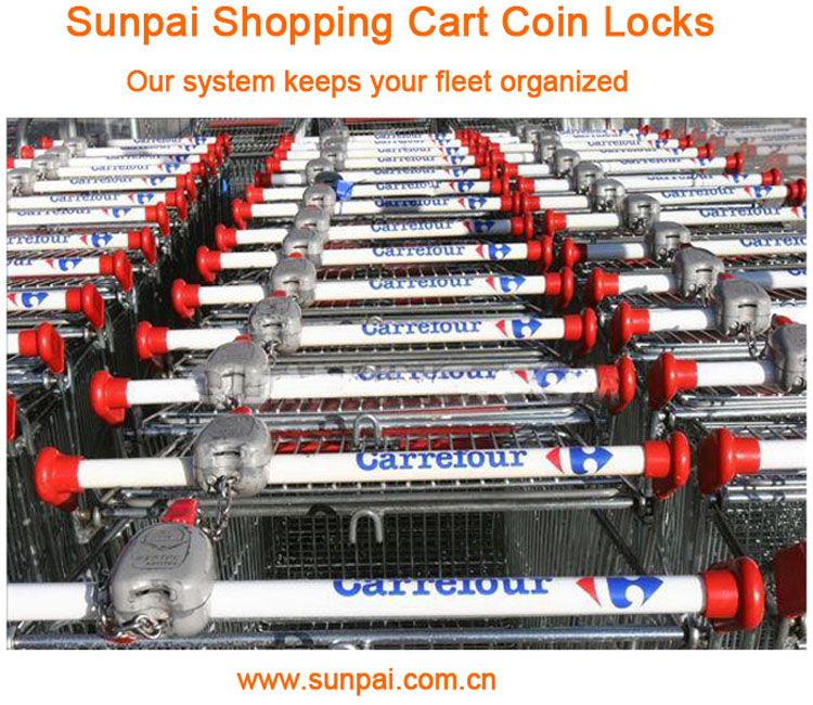 coin lock for shopping cart