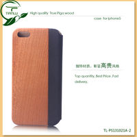 Hot sale For simple style pu iphone 5 leather case/wood case for iphone 5s Premium quality bulk cell phone case for iphone4s