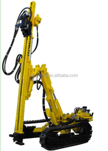 Crawler mounted pneumatic deep rock drill rig for quarry blasting