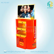 Hot sale cosmetic corrugated cardboard POP up display stand