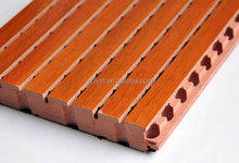 Decorative Interior Wall Paneling Wood Slot Board For Meeting Room