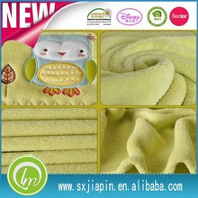 High Quality Reasonable Price baby blanket embroidery patterns polyester Coral Fleece Blanket
