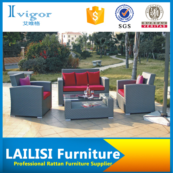 Wholesale Most fortable living accents outdoor furniture patio rattan sofa