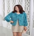 cálido 2015 personalizado de moda delgado piel de conejo rex abrigo de invierno para las mujeres