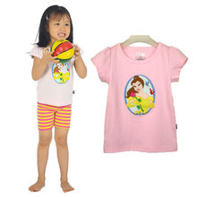 child export spring french printed kids t-shirt