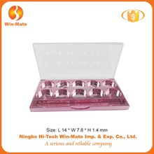 Plated pink 10 small round grid 14*7.8*1.4CM eyeshadow Palette Packing supplier