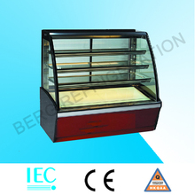 commercail bakery refrigerator cake display chiller marble base