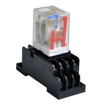 Omron my4 relay with socket 12vdc 24vdc 110vac 220vac general purpose relay