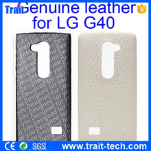 Crocodile Pattern Genuine Leather Coated PC Hard Case for LG G40