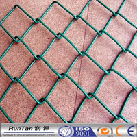 [Runtan]8 gauge chain link fence(PVC coated or galvanized )