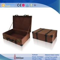 Trade Assurance manufacture wholesale custom vintage leather suitcase