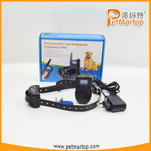 2015 new rechargeable and waterproof remote dog training collar TZ-KD668 electronic barking dog